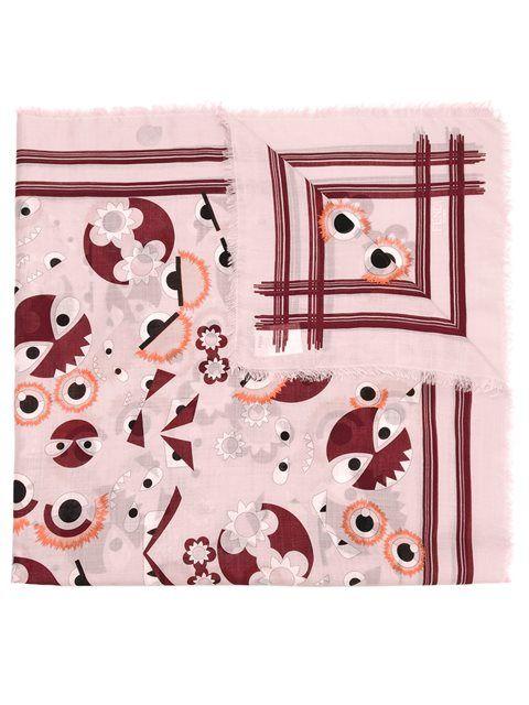 FENDI Bag Bugs scarf. #fendi #scarf