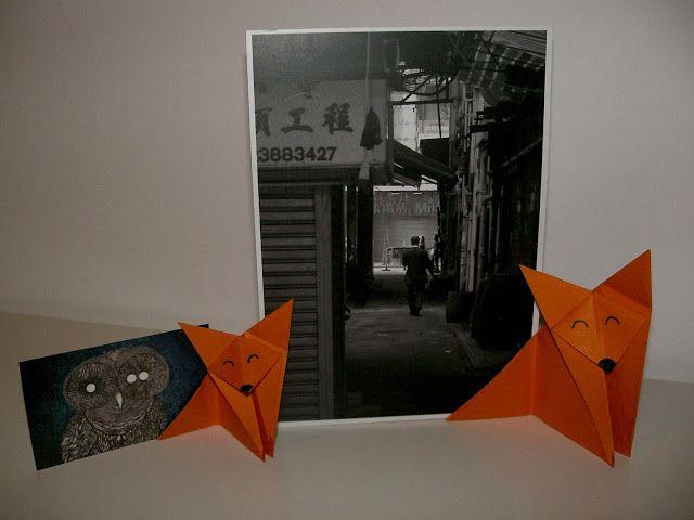 DIY : un renard en origami porte carte (tuto)
