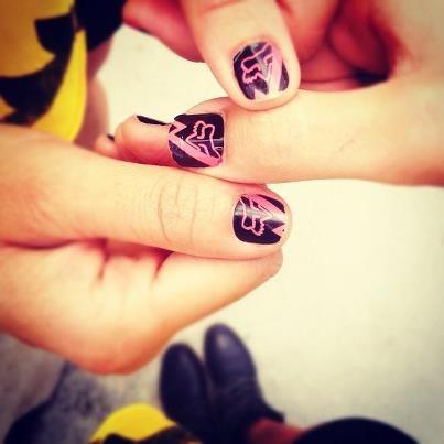 fox racing fake nails -