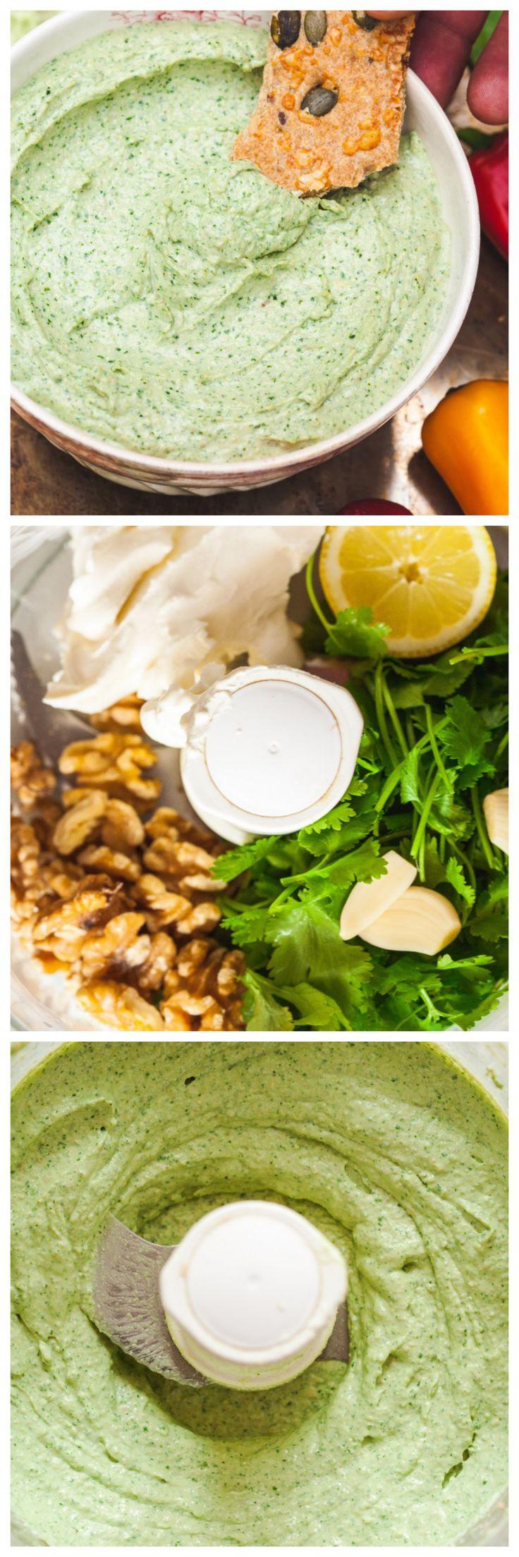 Creamy Cilantro and Walnut Dip