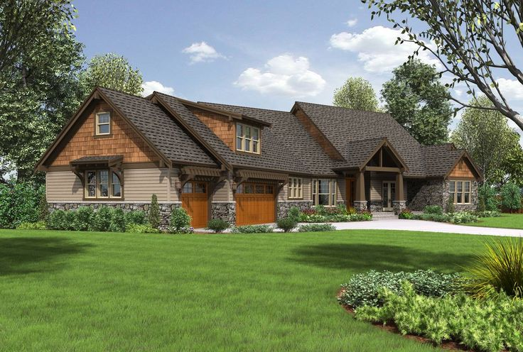 craftsman lodge with gorgeous master suite. plan 2471 the braecroft