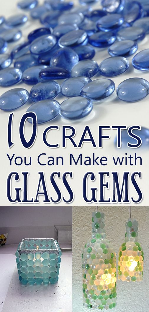 I love these diy candle holders! Here's a list of easy projects you can make with glass gems.