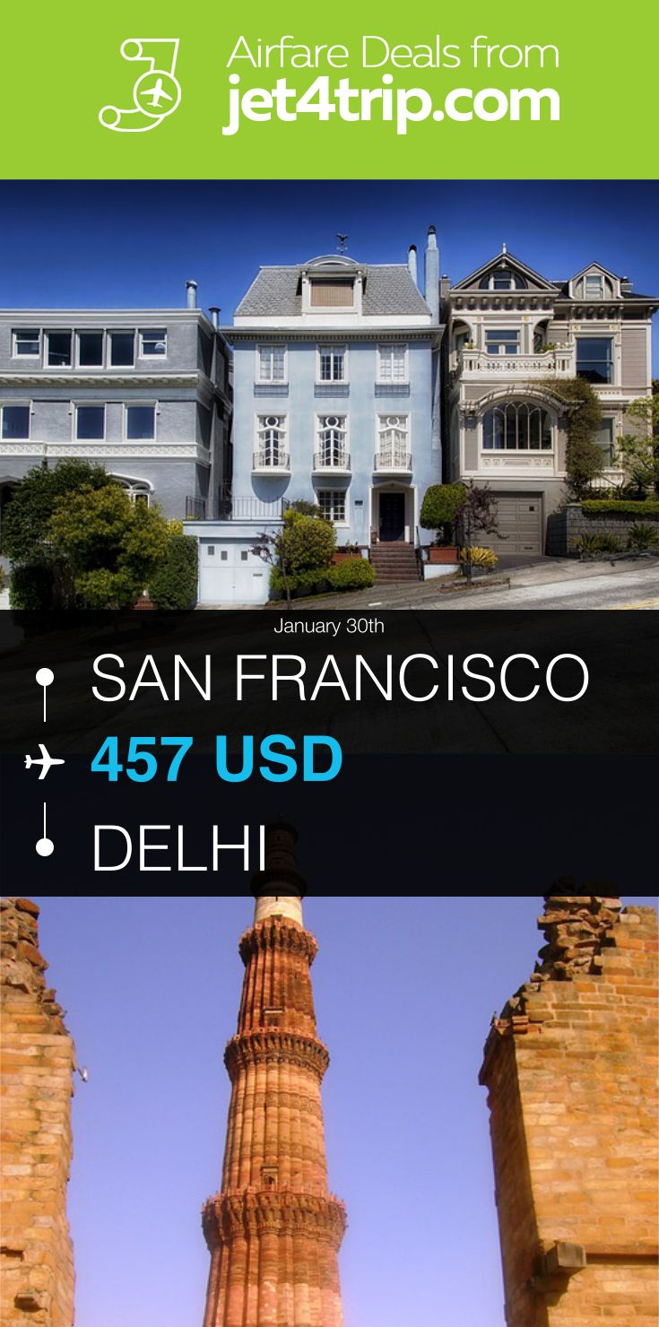 Flight from San Francisco to Delhi for $457 by China Eastern Airlines #travel #ticket #deals #flight #SFO #DEL #San Francisco #Delhi #MU #China Eastern Airlines
