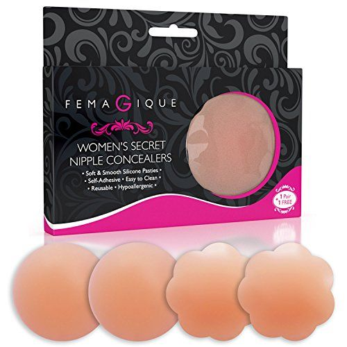 Silicone Nipple Concealers Adhesive Breast Pasties 2 Pair Reusable Bra less Petals - http://www.darrenblogs.com/2017/03/silicone-nipple-concealers-adhesive-breast-pasties-2-pair-reusable-bra-less-petals/