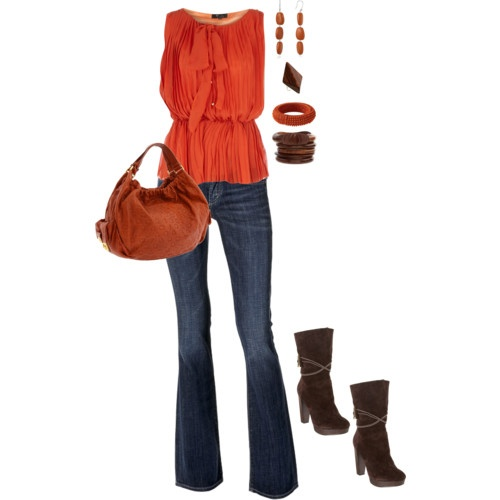 like the top...: Fashion, Early Fall, Ears Fall, Style, Fall Colors, Fall Outfits, Date Nights, Orange Tops, Date Night Outfits