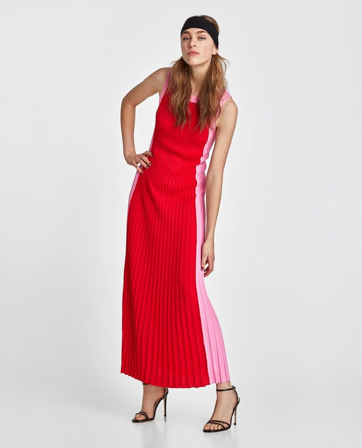 LONG TWO-TONE DRESS-View all-DRESSES-WOMAN | ZARA United Kingdom
