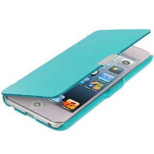 Baby Blue Magnetic Hard Folio Wallet Pouch Case Cover for Apple iPod Touch 5th Generation 5G 5: Amazon.co.uk: Electronics
