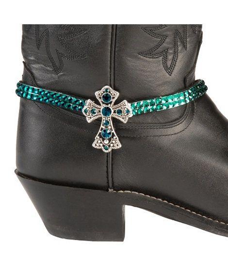 Rhinestone Cross Boot Bracelet