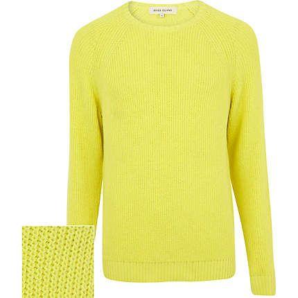 Yellow textured jumper €18.00