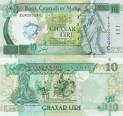 10 Liri Malta 2000