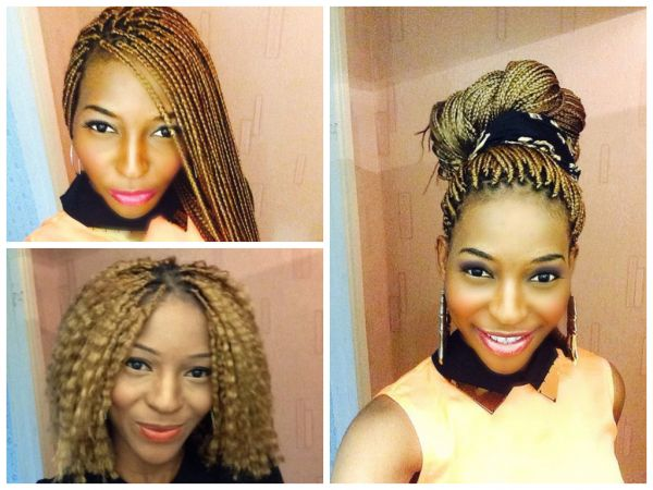Nicole shares her blonde box braids - http://www