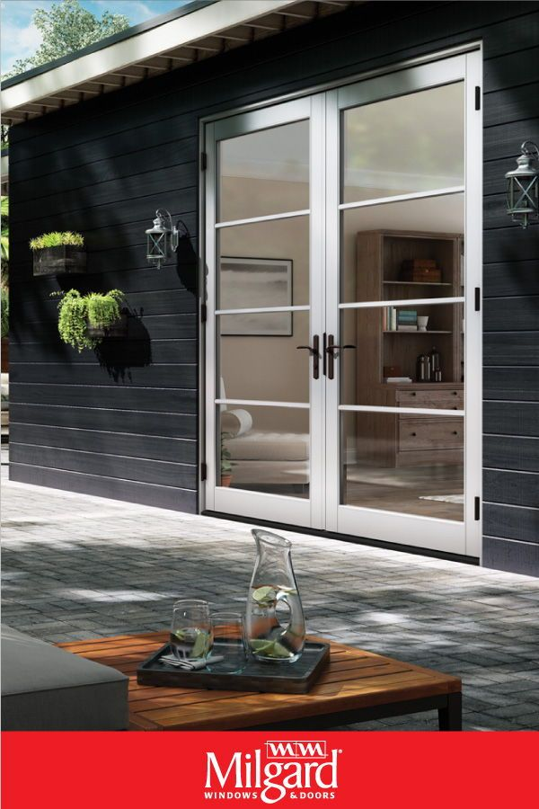 Streamline Your French Patio Doors With A Horizontal Grid Style Complement Your Glass Door With Matching Wi French Doors Replacement French Doors Patio Doors