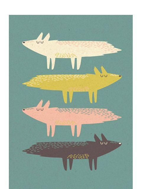 Fox Stack Postkarte / Human Empire