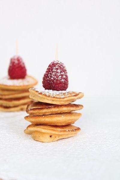Pancaketürmchen, Minipancakes, Muttertagsfrühstück, Pancakes