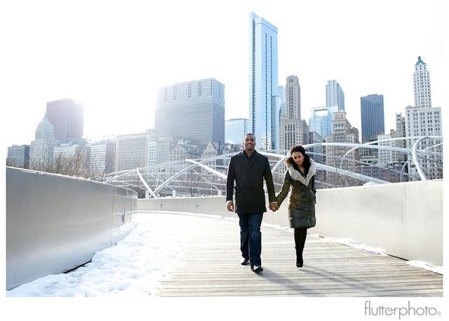 engagement photo shoot - chicago