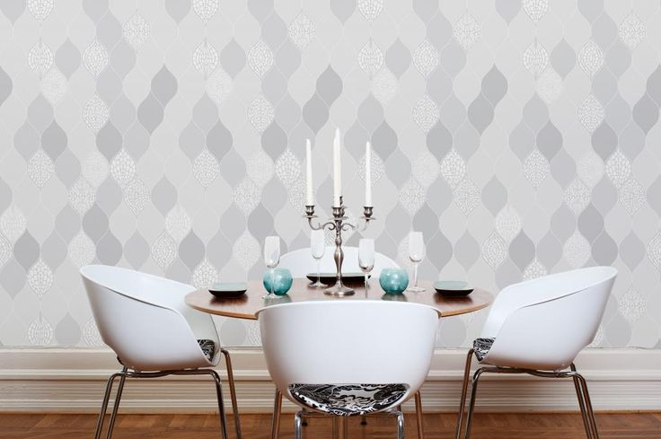 Wallpaper FLOATING DROP light grey by Lena Eliasson for DesignM Collection. Www.designmaklarna.se