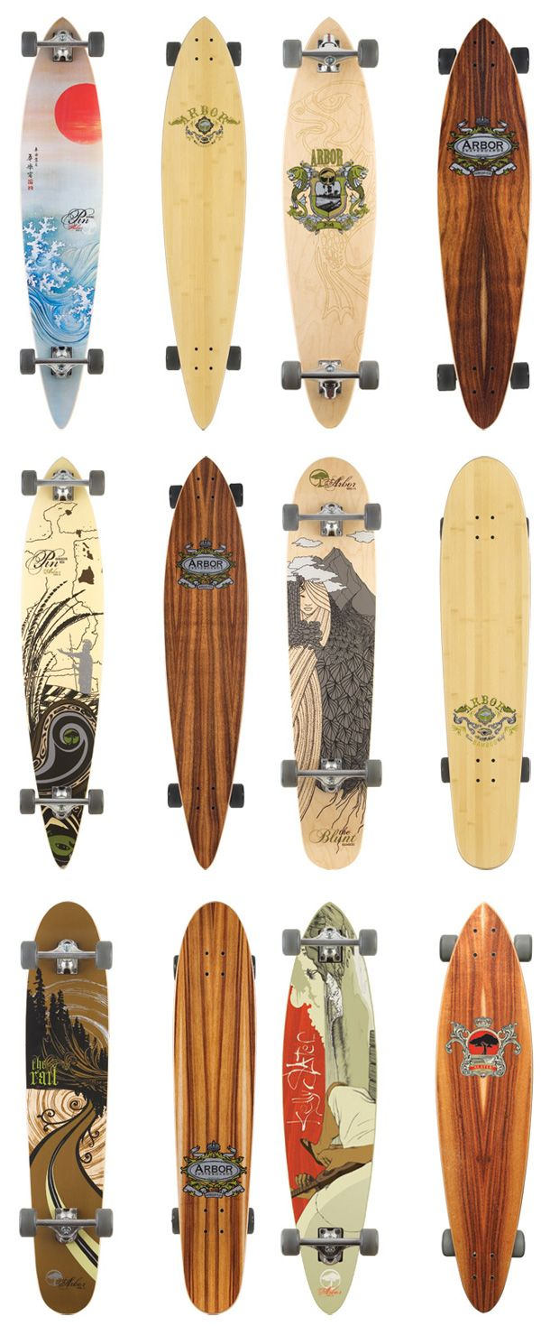 Arbor Longboards.  I just got a 44 inch board. It has the same shape as the one in the last row second column.