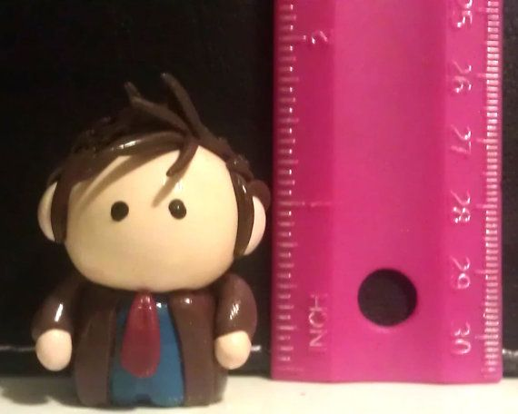 Doctor Who  10th Doctor Miniature by MoldedByMe on Etsy, $15.00