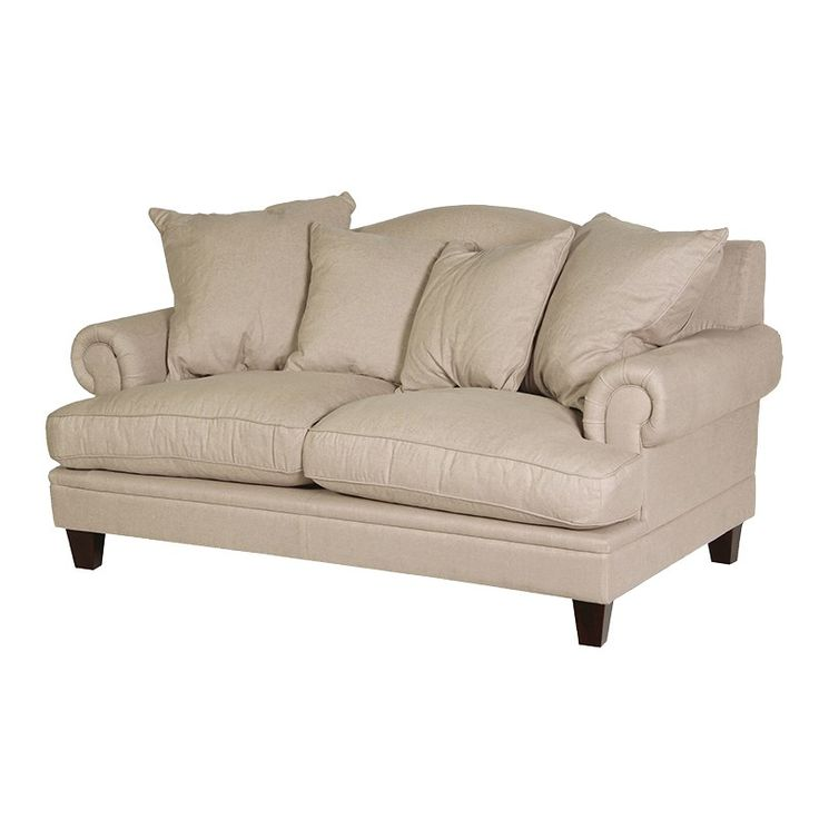 Simple Off White Sofa - additional cushions would make this a great addition to any sitting room or bedroom . . .