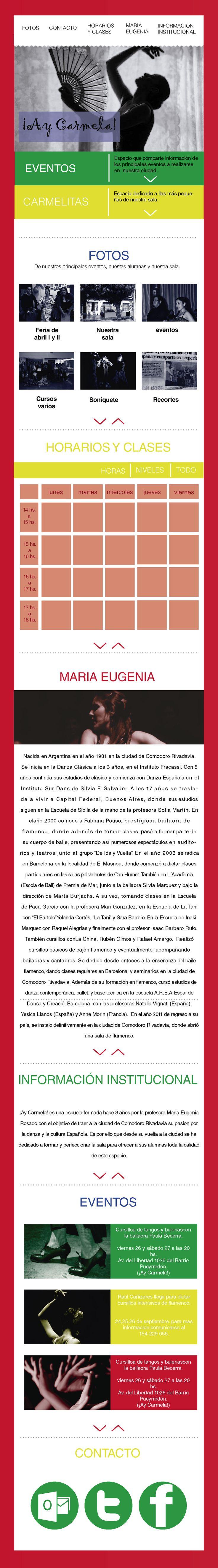 Diseño web para ¡Ay Carmela! Sala flamenca