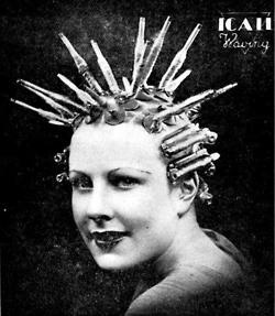 Hair windings for a permanent wave, 1934-pin it by carden
