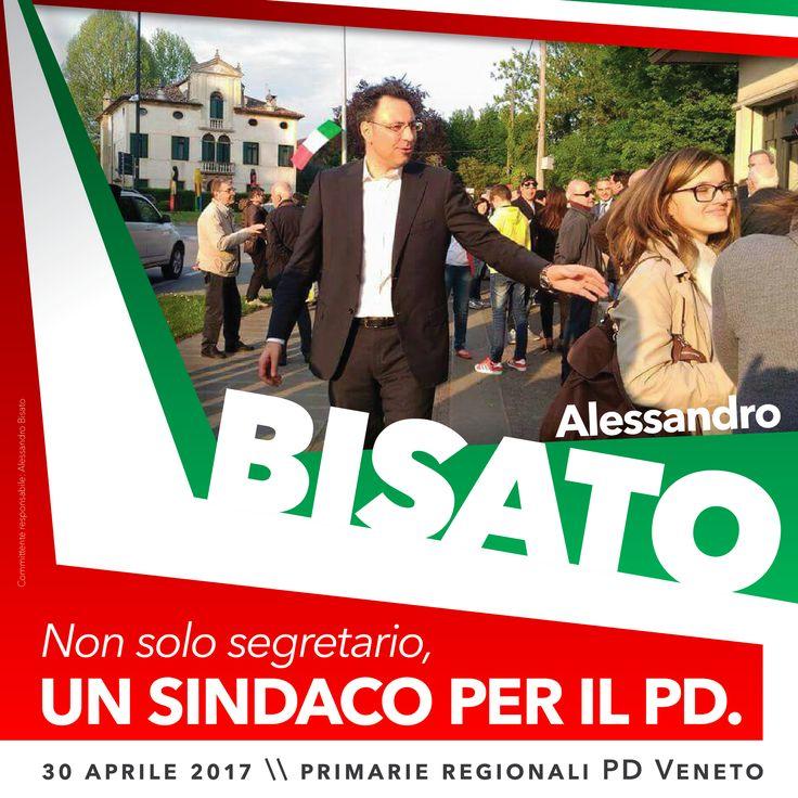 Alessandro Bisato, primarie PD Veneto // art direction