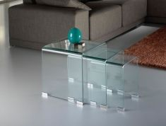 Tavoli Nido di Vetro Trasparente : Collezione GLASS
