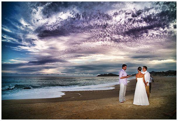 Simplicity is the key... Beach wedding in Cabo San Lucas, Mexico