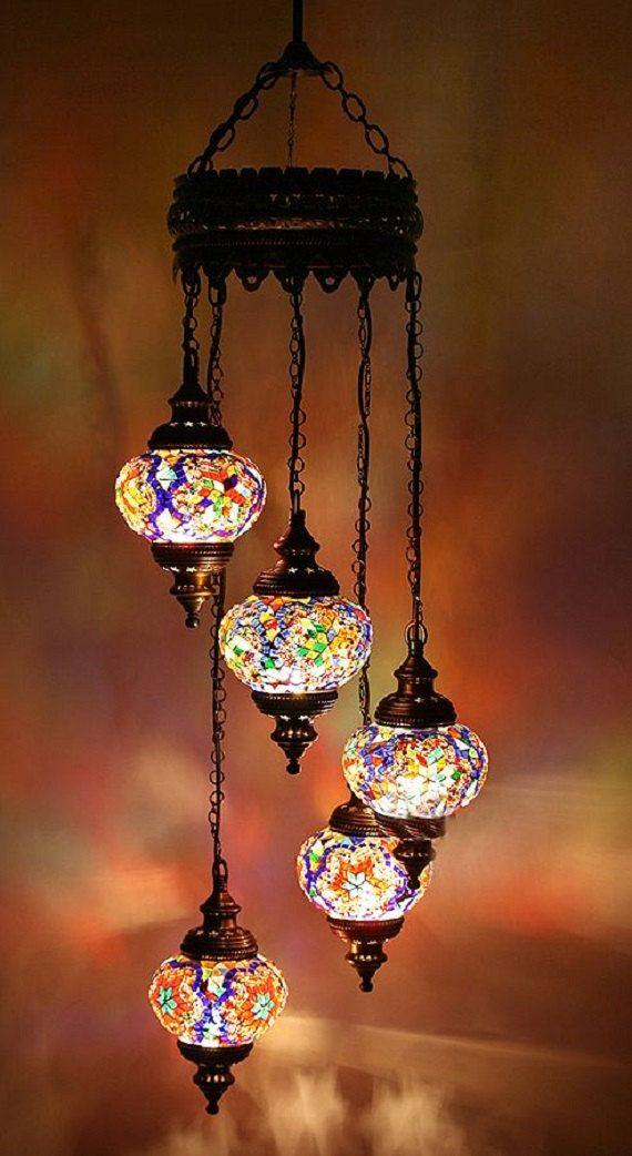 Handmade Turkish Mosaic Chandelier Turkish by anatolanmosacbazaar, $99.00