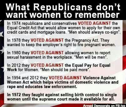 PP: Republicans somehow feel the image portrayed by sheep herders two thousand years ago of women being subservient to men should be reinstated as the norm. May I suggest republicans voted out of office become the new norm.
