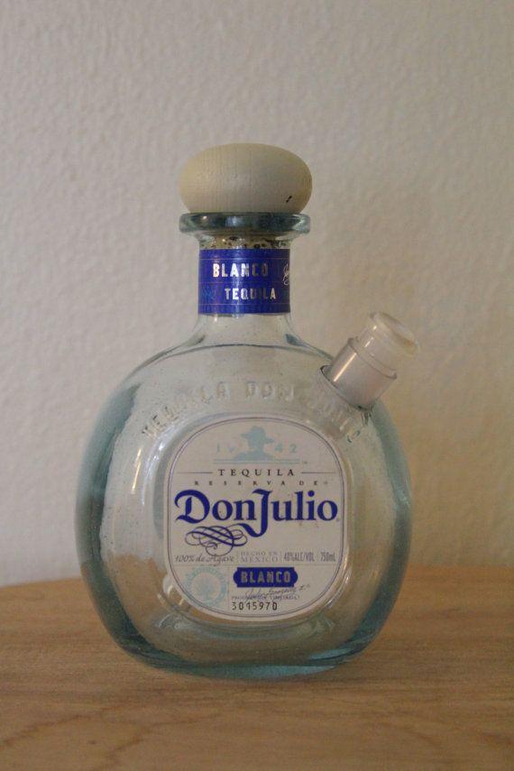 Don Julio Tequila Blanco Liquor Bottle Bong