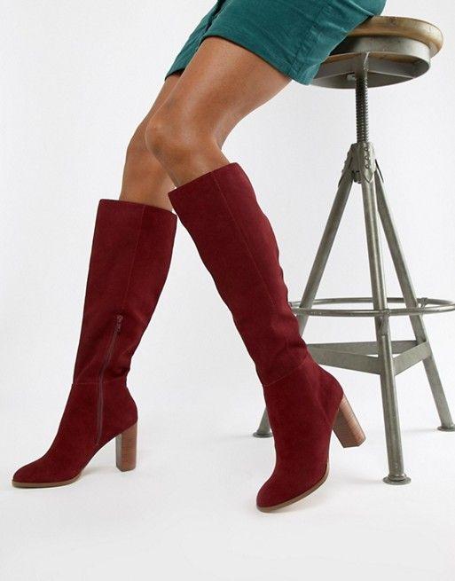 Suede Design Asos Chase BootsBootsShoes Knee High En RjA5L4