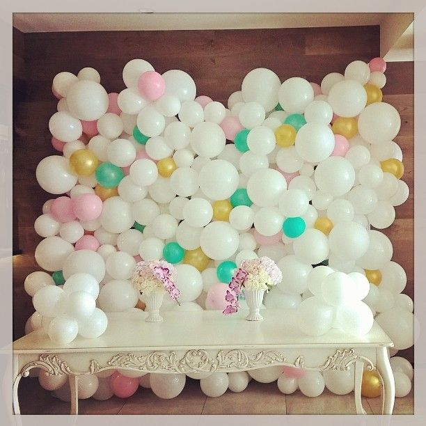 Balloon Flower Wall Decoration : Best ideas about balloon wall on