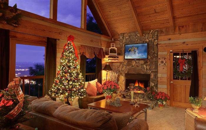 19 best Log Cabins Decorated for Christmas images on ...