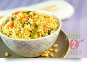 Vegetarian Rice Pilaf with Mint & Parsley