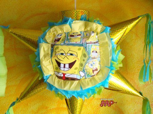 PINATA SPONGEBOB SQUAREPANTS Piata Hand Crafted 26x26x12[Holds 2-3 Lb. Of Candy][For Any Occasion]
