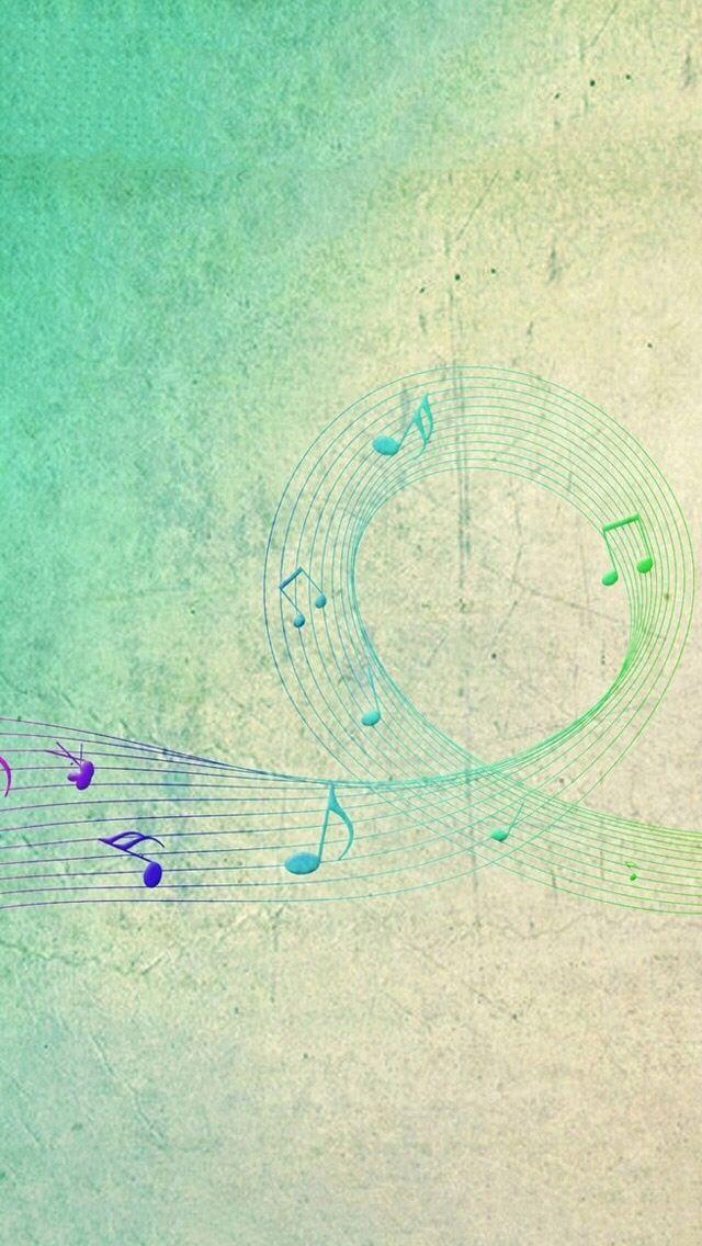 Hippie Art Phone Wallpapers Ipod Wallpaper Iphone Backgrounds Music Notes Lyrics 5s
