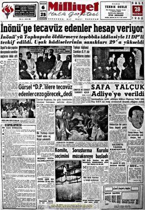 Milliyet gazetesi 28 haziran 1960