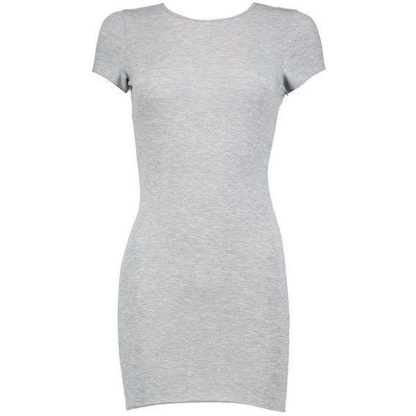 Boohoo Petite Roxy Cap Sleeve Mini Bodycon Dress   Boohoo ($7) ❤ liked on Polyvore featuring dresses, vestidos, short dresses, petite dresses, boohoo dresses, short bodycon dresses, cap sleeve dress and petite bodycon dresses