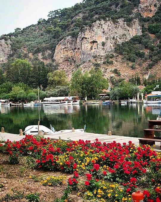 Dalyan ,kral mezarları Muğla Türkiye