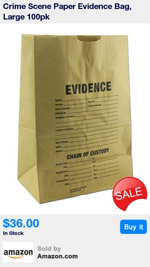 """Used to preserve evidence * Chain of custody label * 12"""" x 7"""" x 17"""