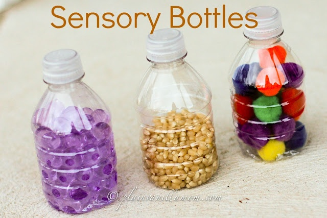 Plain Vanilla Mom: Sensory Bottles for Little Ones with many other blog ideas too!