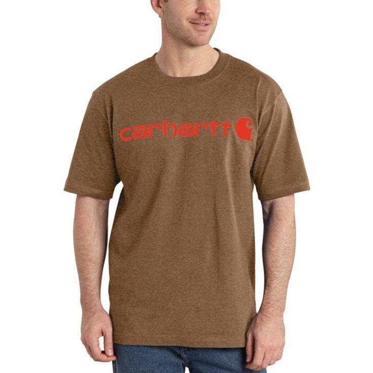 Carhartt Men's Logo T-Shirt, Size: Medium, Barrel Heather