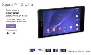 Watch New Coolest Upcoming Sony Xperia T2 Ultra Smartphone