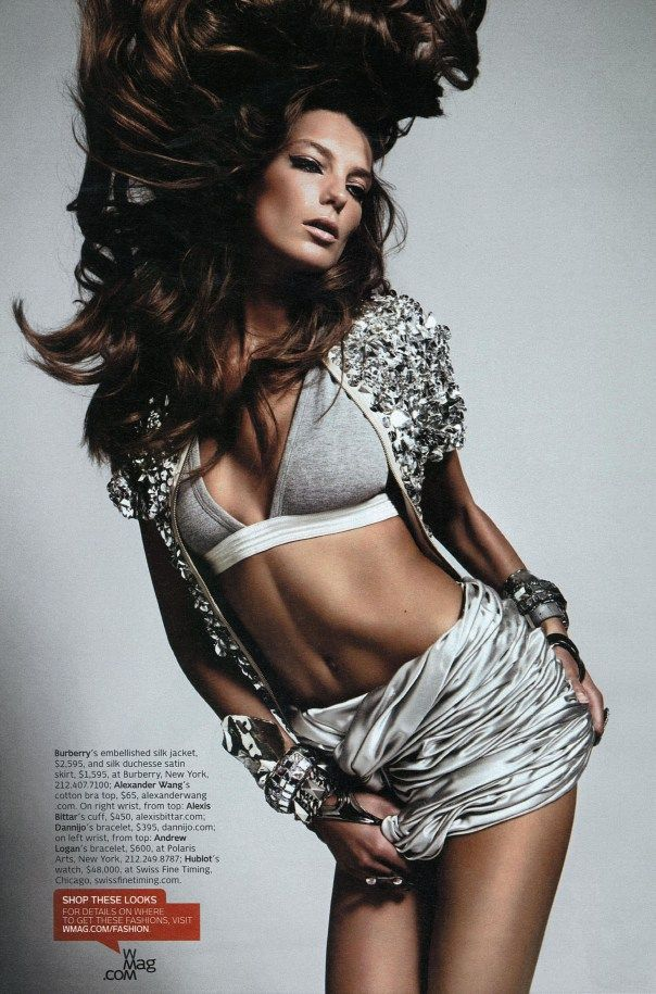 Daria Werbowy By Mario Sorrenti For Magazine April Model Metaporn 1