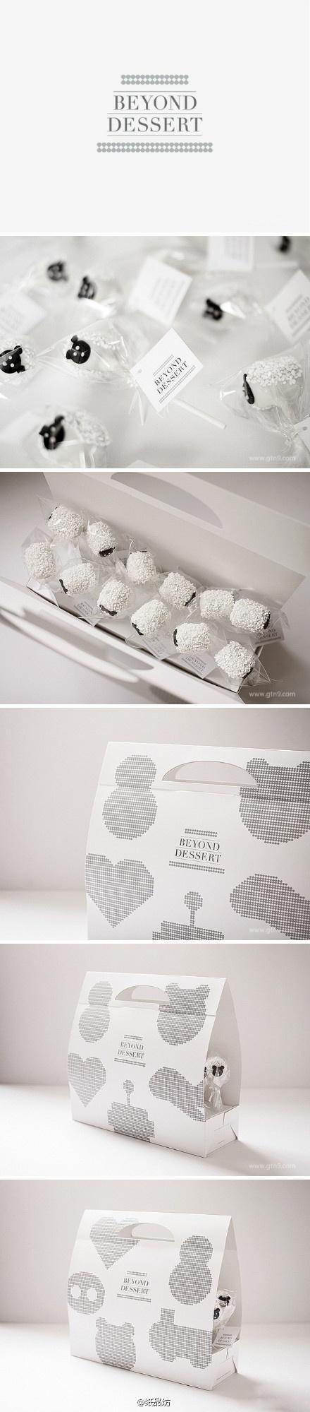 Cakepop. Black and white desert #packaging love  #2013 #toppin PD