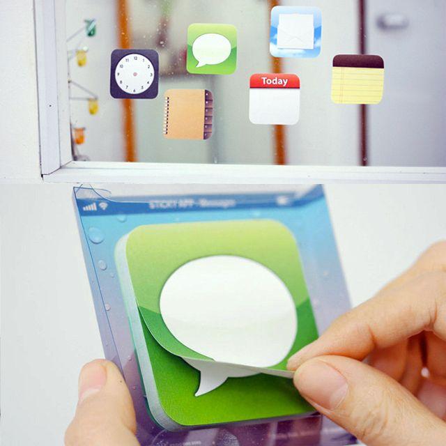 Per no oblidar-te de les coses també pots utilitzar aquests blocs inspirats en les icones de les apps