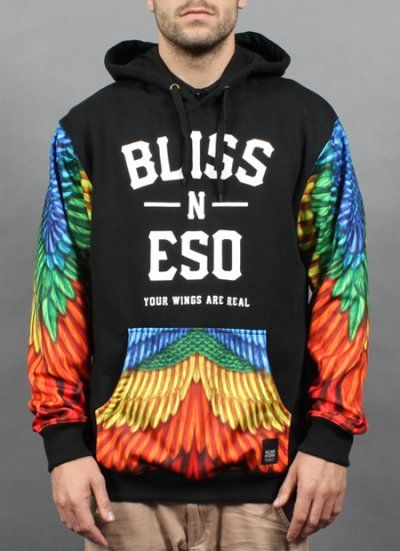 My Wings Are Real Hoody by Bliss N Eso