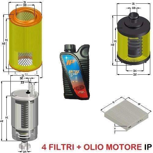 KIT FILTRI +5LT OLIO ALFA GIULIETTA 1.6 JTDM 77 KW 105 CV MOT. 940A3000 DA 05/10