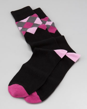 Cool Argyle Men's Socks by Arthur George by Robert Kardashian at Neiman Marcus.